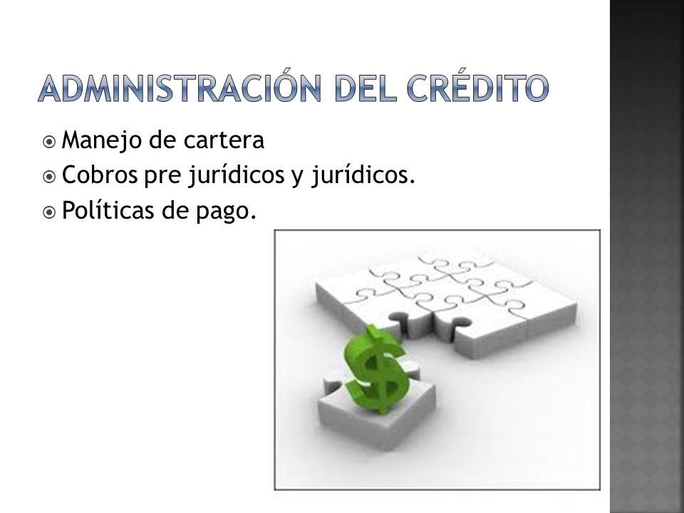 Administración del crédito