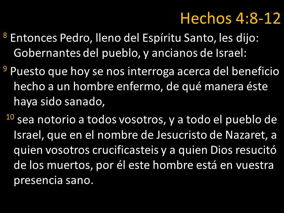 Hechos 4:8-12