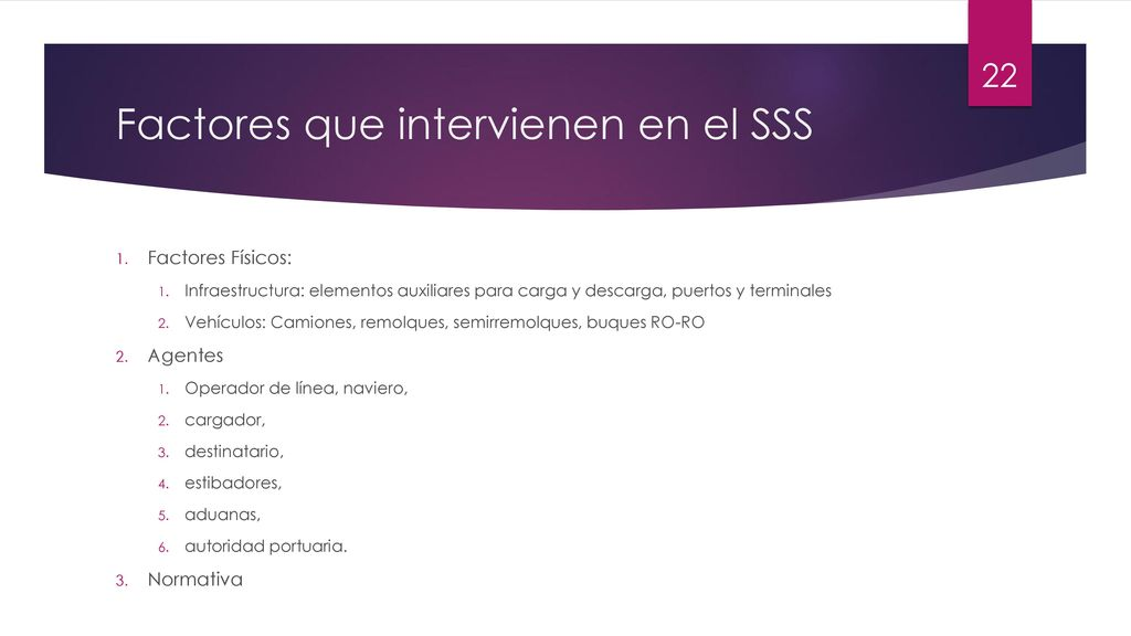 Factores que intervienen en el SSS