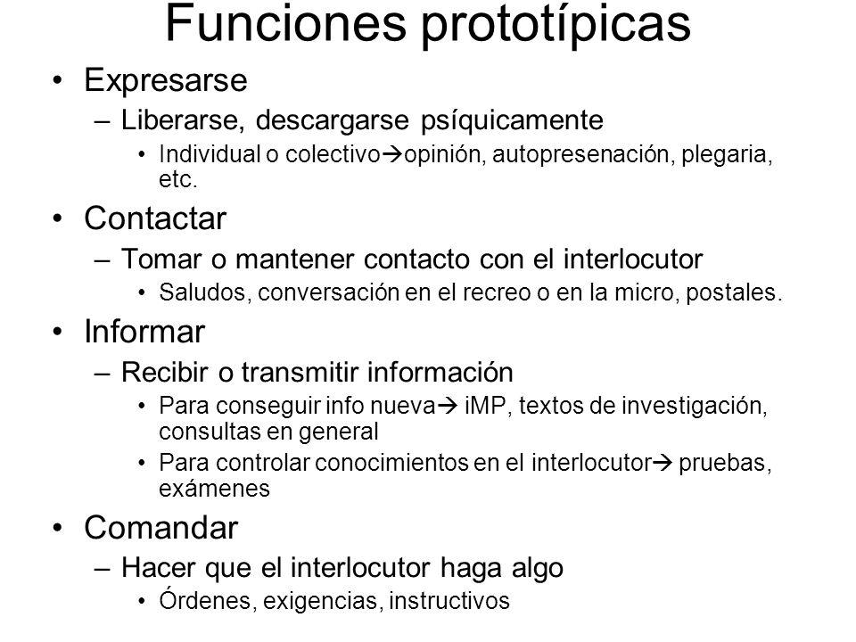 Funciones prototípicas