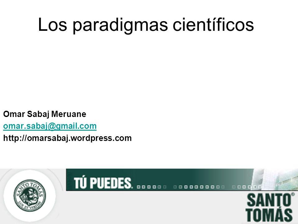 Los paradigmas científicos