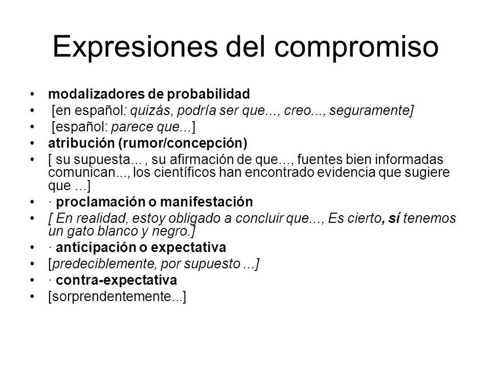 Expresiones del compromiso