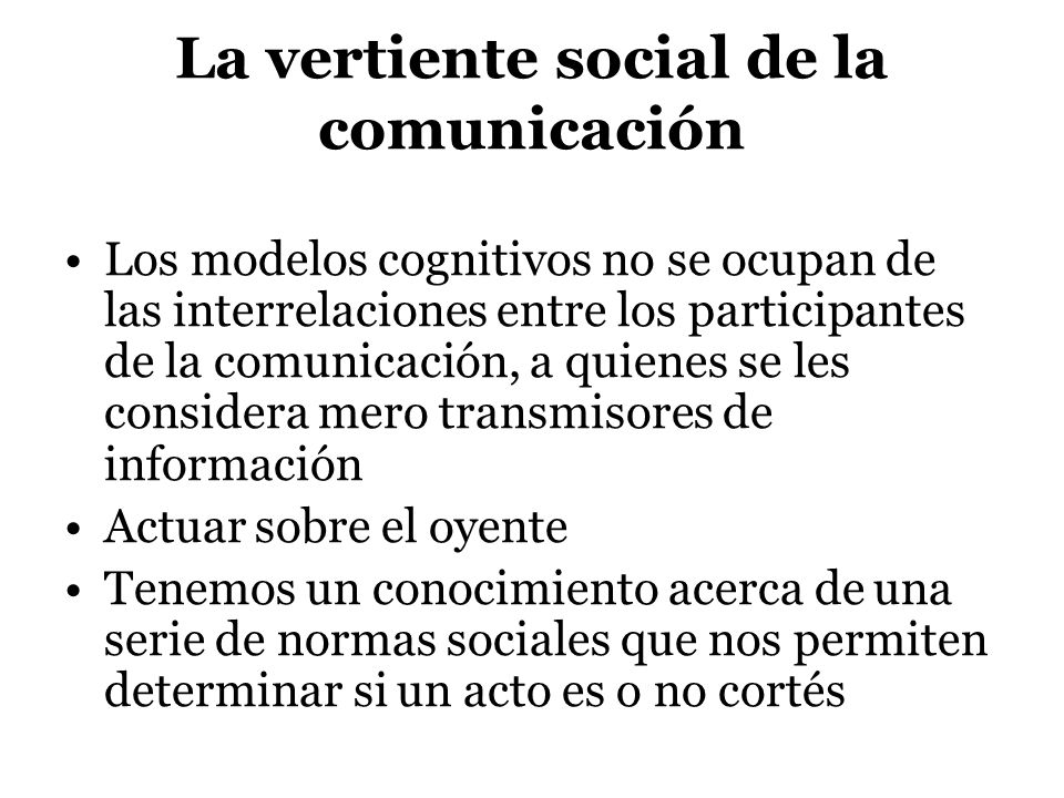 La vertiente social de la comunicación