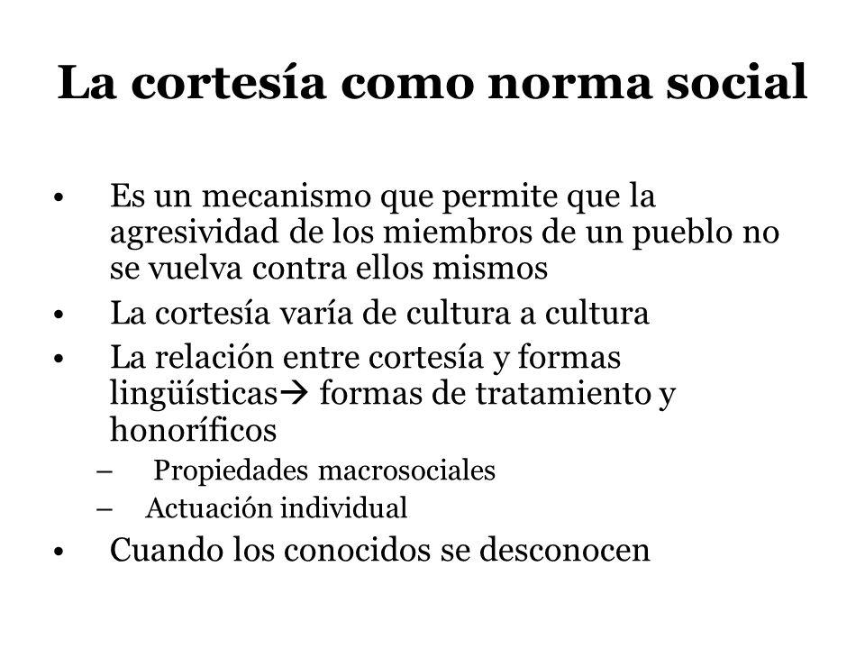 La cortesía como norma social