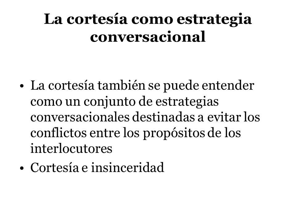 La cortesía como estrategia conversacional
