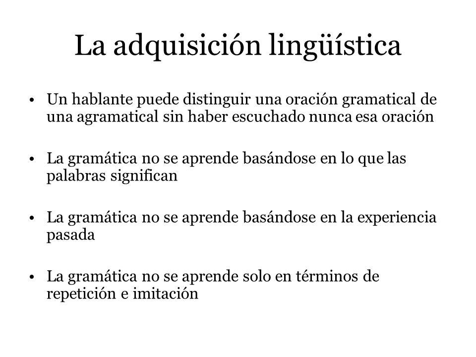 La adquisición lingüística