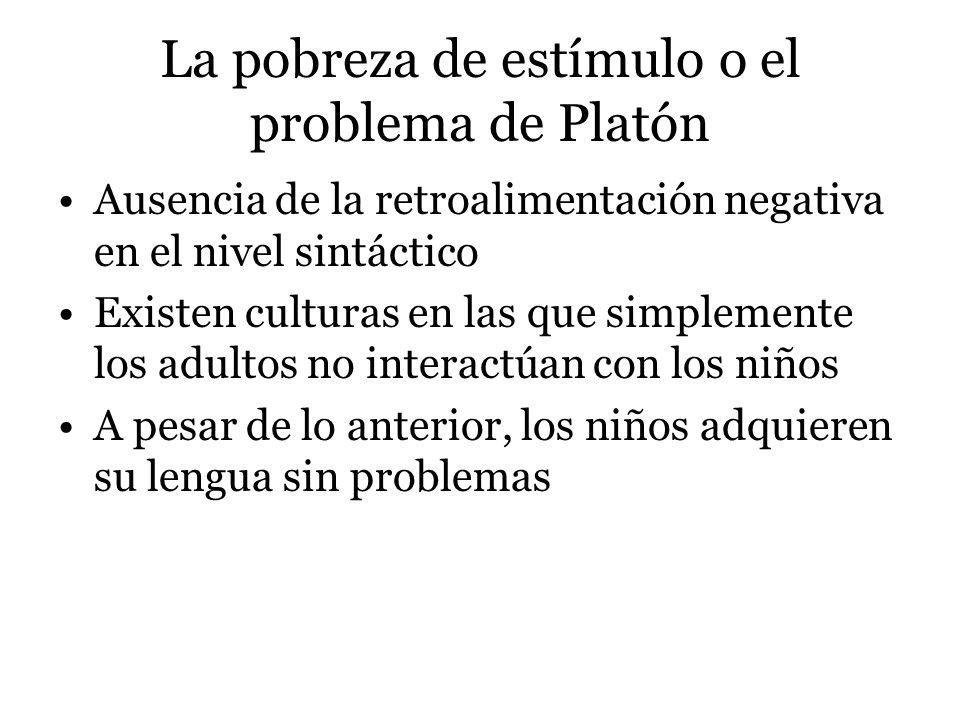 La pobreza de estímulo o el problema de Platón