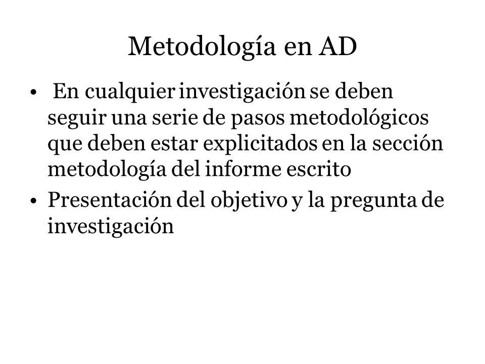 Metodología en AD