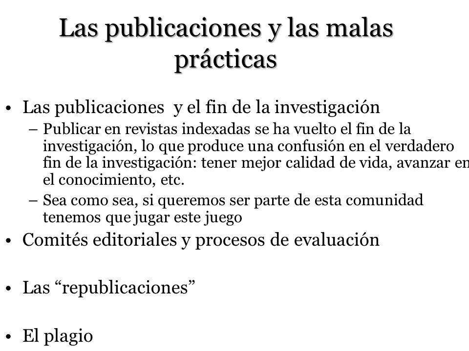 Las publicaciones y las malas prácticas