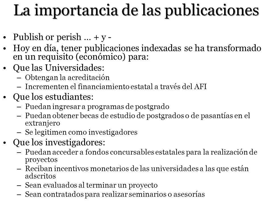 La importancia de las publicaciones
