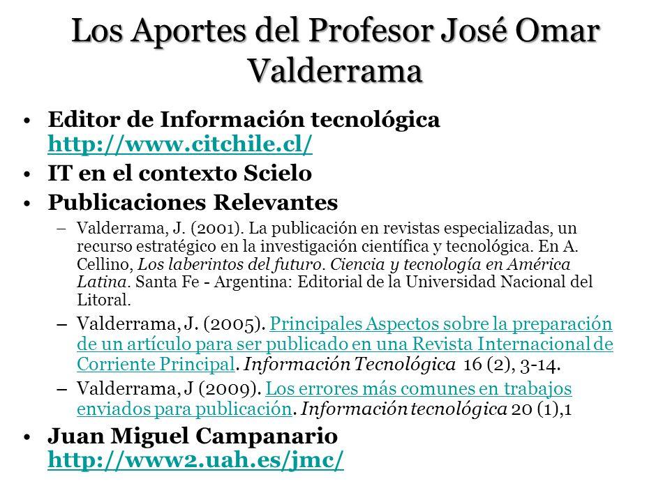 Los Aportes del Profesor José Omar Valderrama