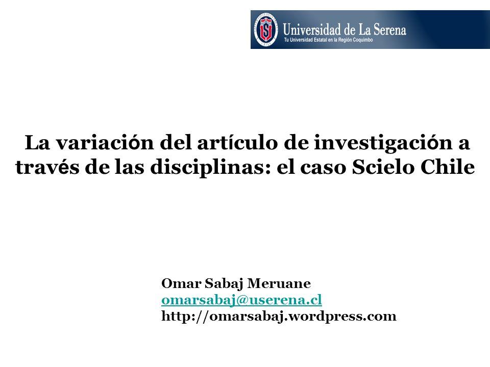 La variación del artículo de investigación a través de las disciplinas: el caso Scielo Chile