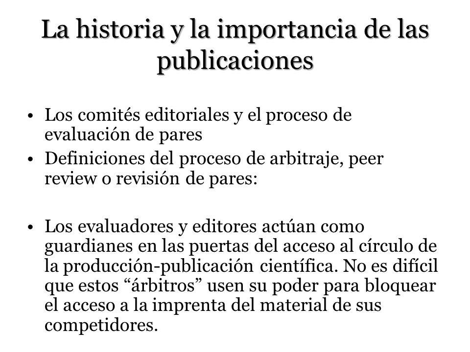 La historia y la importancia de las publicaciones