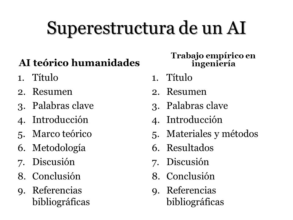 Superestructura de un AI