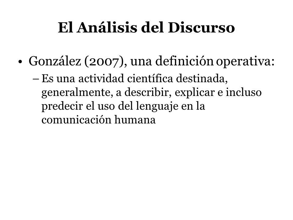 El Análisis del Discurso