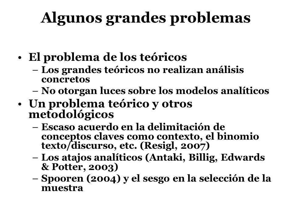 Algunos grandes problemas