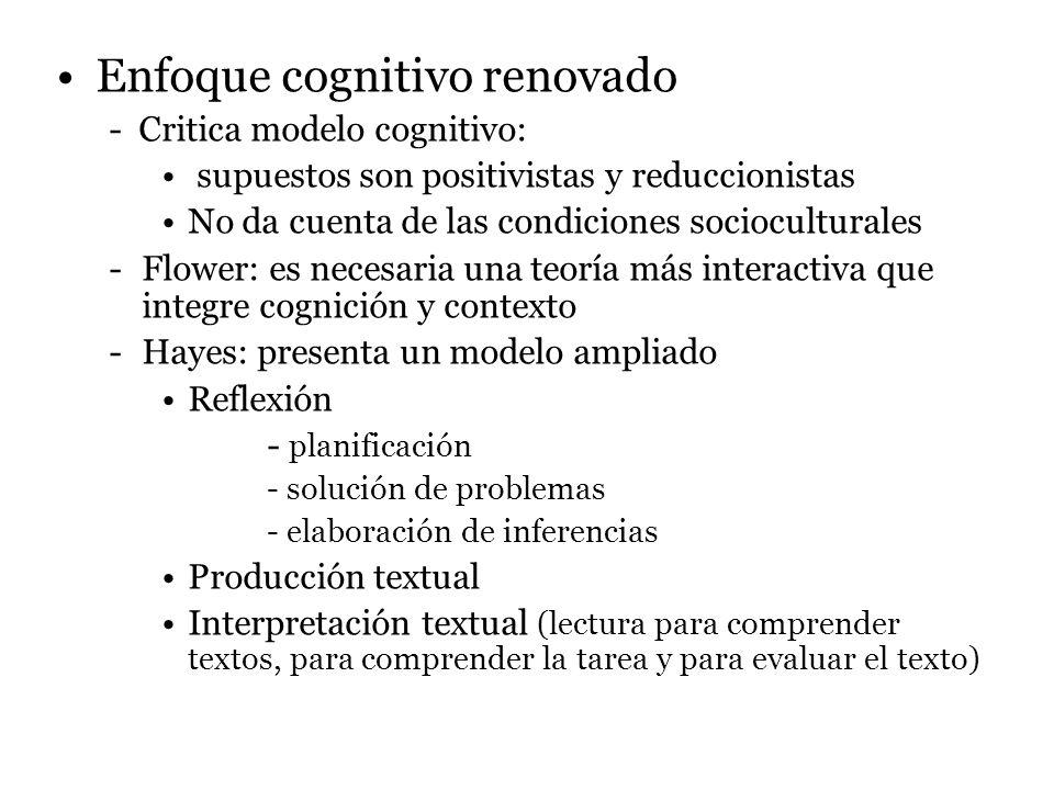 Enfoque cognitivo renovado
