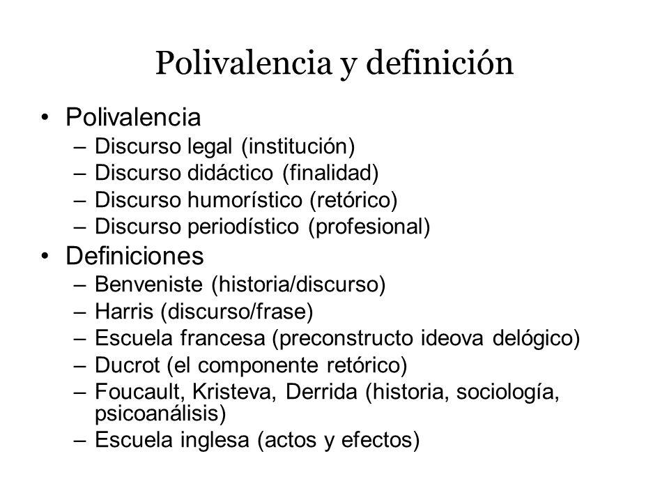 Polivalencia y definición