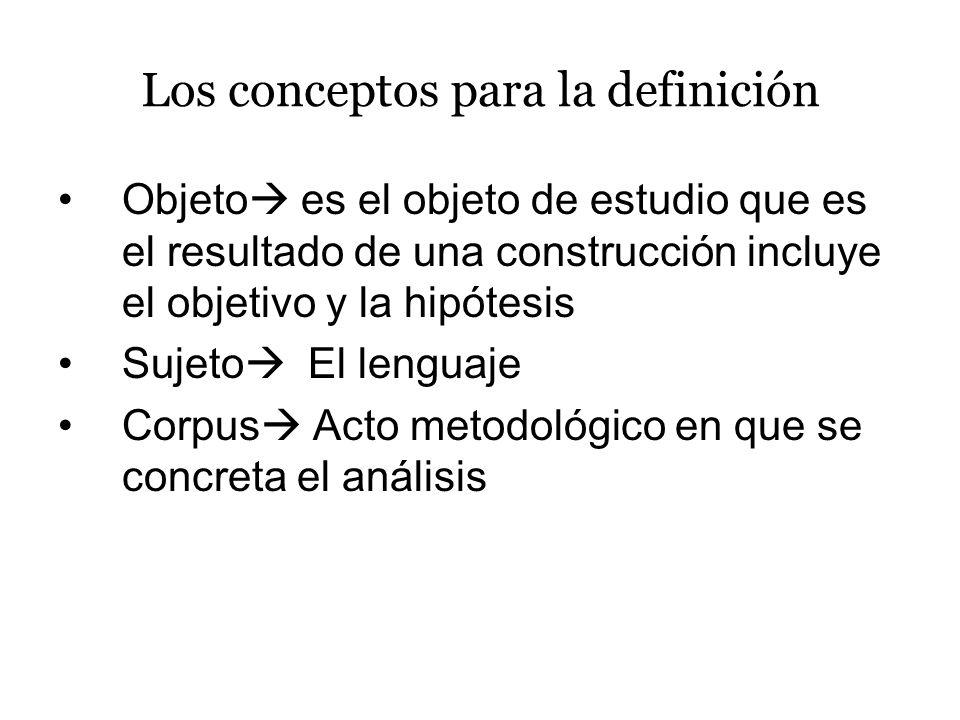 Los conceptos para la definición