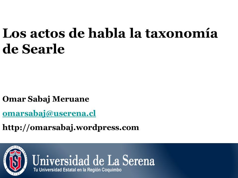 Los actos de habla la taxonomía de Searle