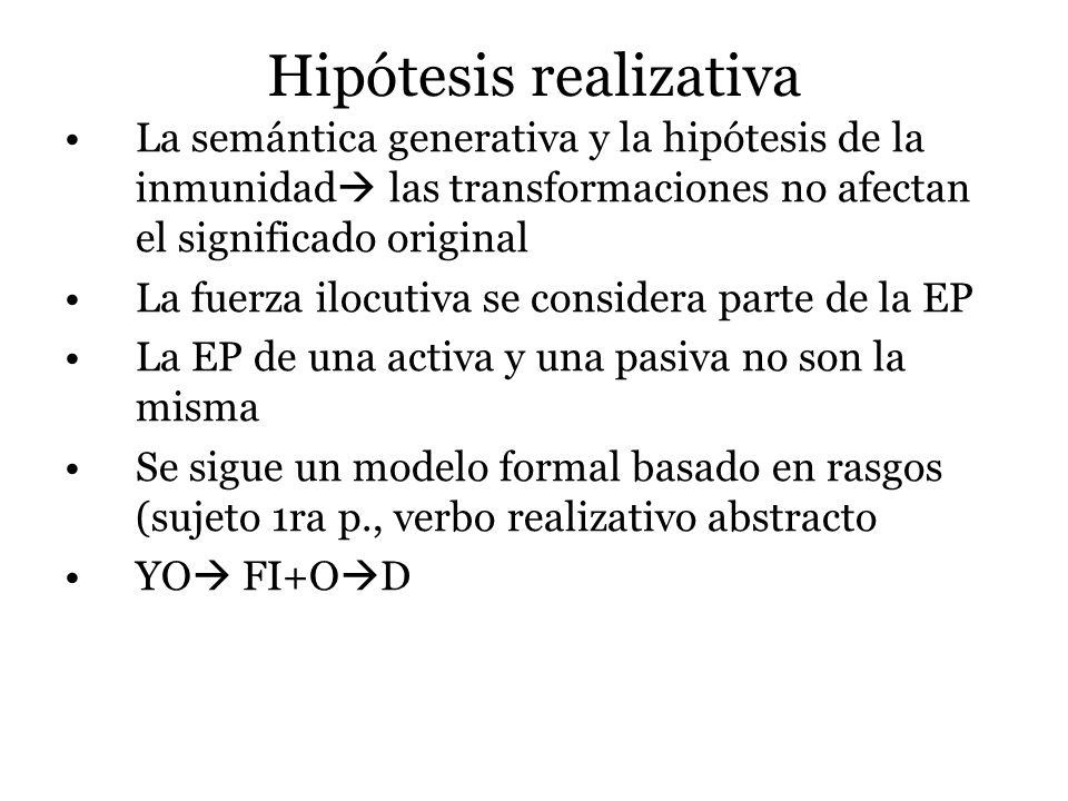 Hipótesis realizativa
