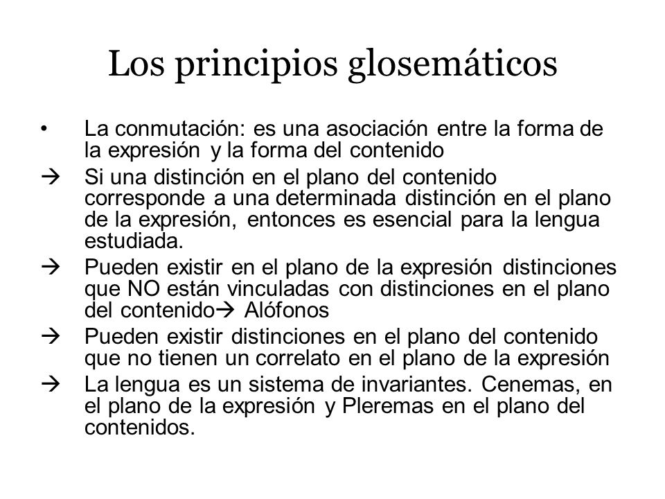 Los principios glosemáticos