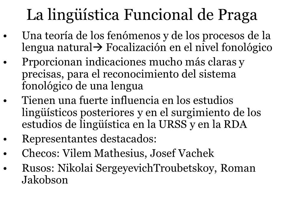 La lingüística Funcional de Praga