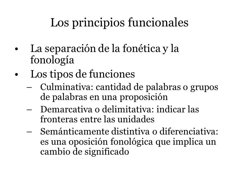 Los principios funcionales
