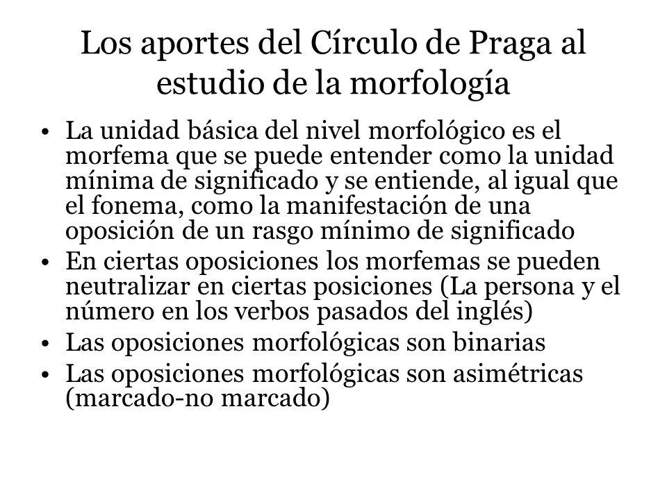 Los aportes del Círculo de Praga al estudio de la morfología