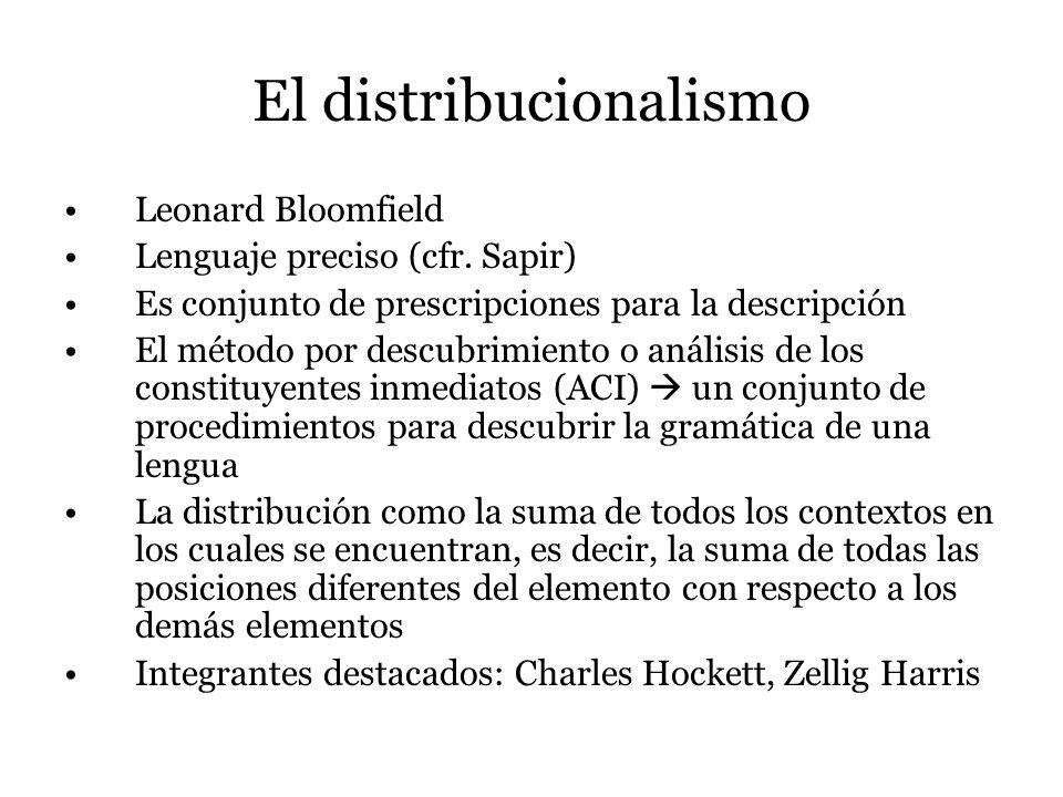 El distribucionalismo