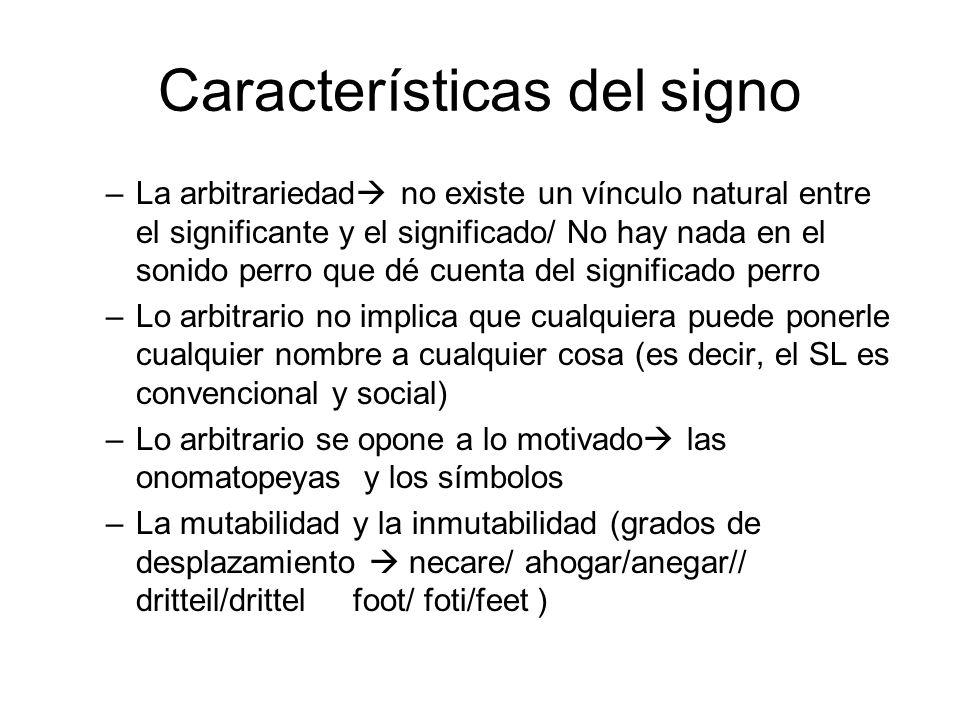 Características del signo
