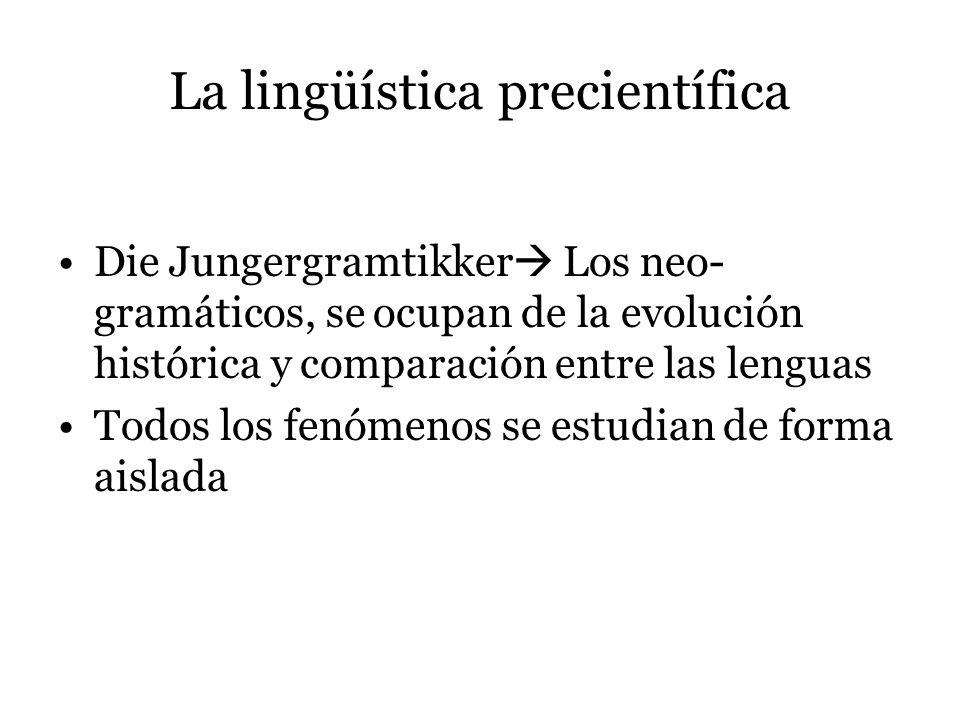 La lingüística precientífica