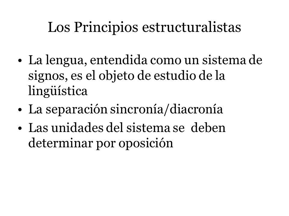 Los Principios estructuralistas