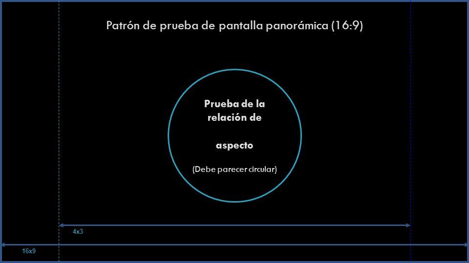 Patrón de prueba de pantalla panorámica (16:9)