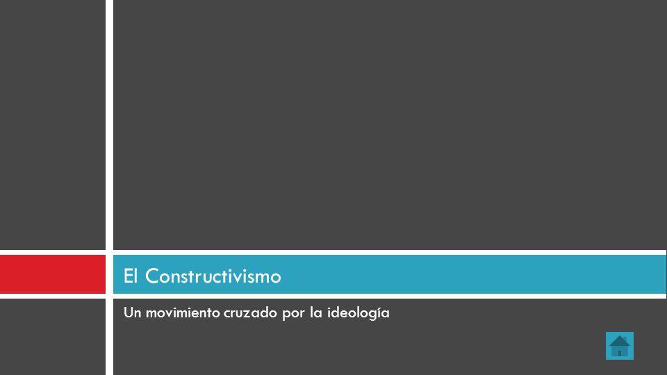 El Constructivismo Un movimiento cruzado por la ideología 14
