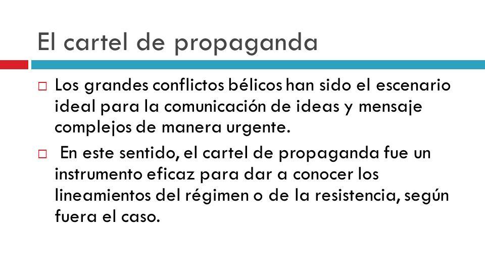 El cartel de propaganda