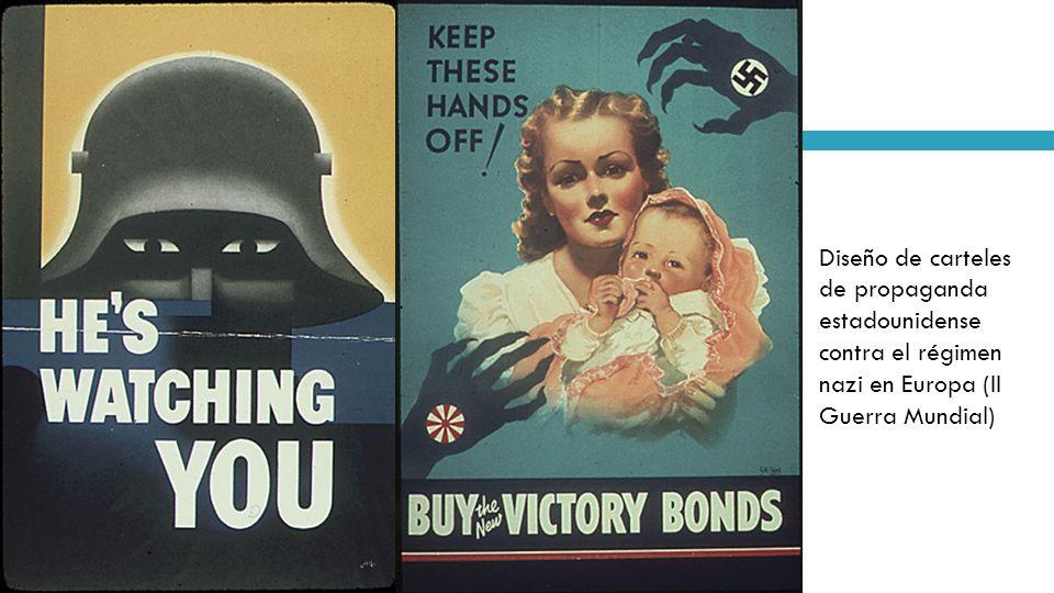 Diseño de carteles de propaganda estadounidense contra el régimen nazi en Europa (II Guerra Mundial)