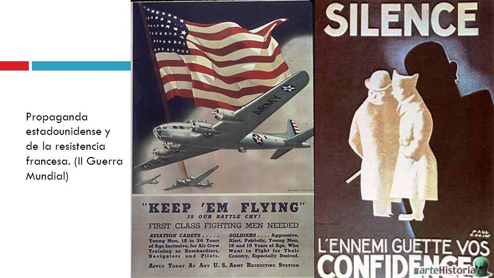 Propaganda estadounidense y de la resistencia francesa