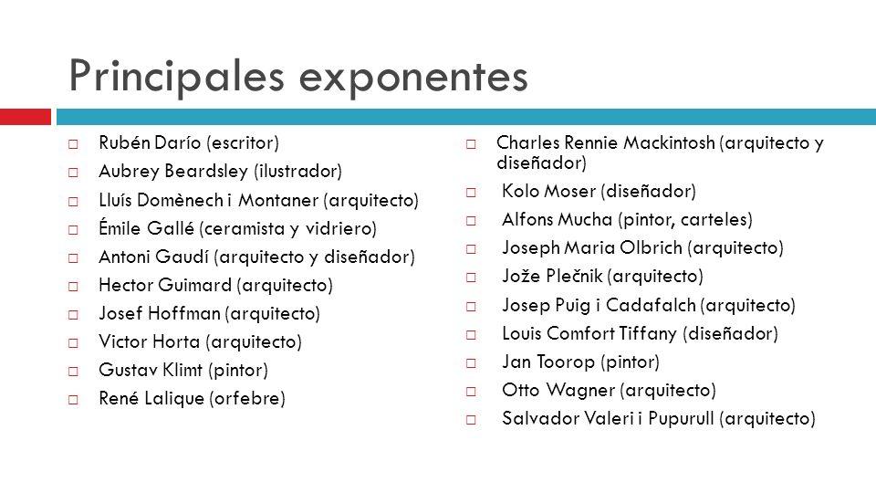 Principales exponentes