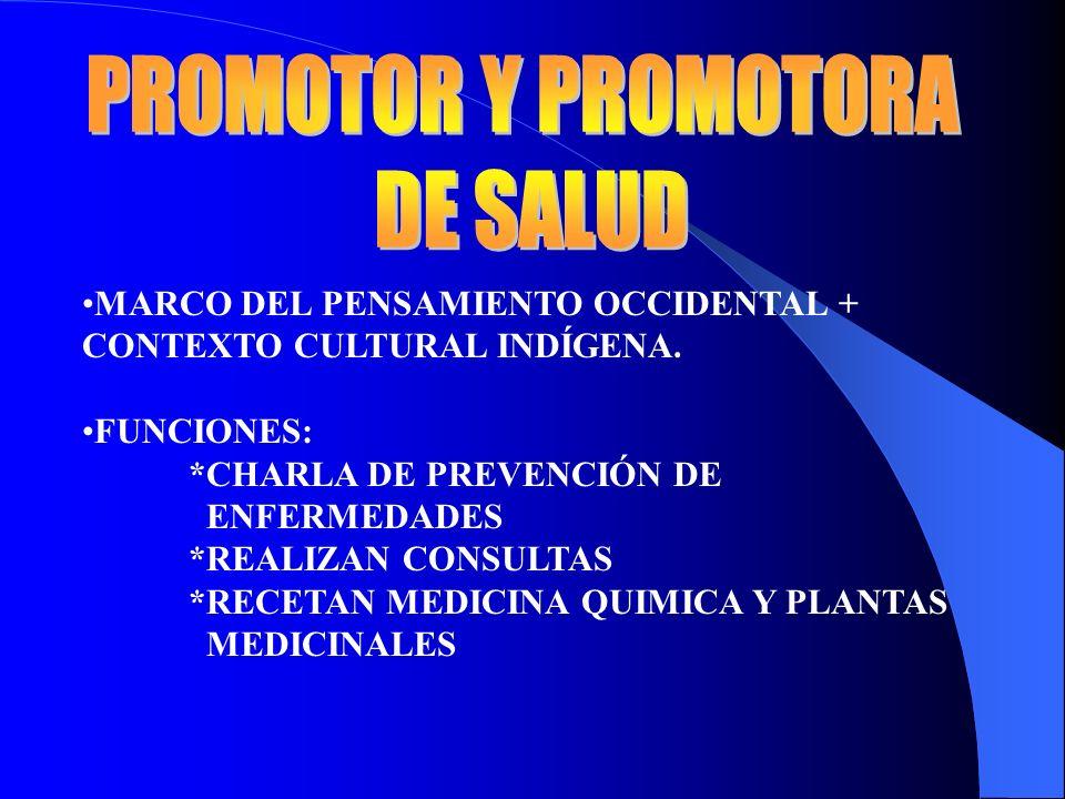 PROMOTOR Y PROMOTORA DE SALUD