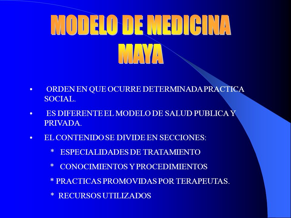 MODELO DE MEDICINA MAYA