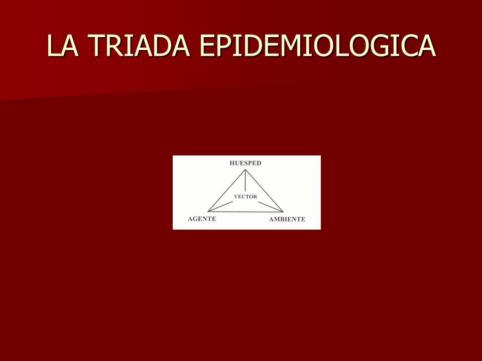 LA TRIADA EPIDEMIOLOGICA