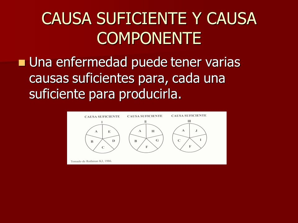 CAUSA SUFICIENTE Y CAUSA COMPONENTE