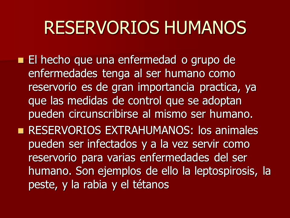 RESERVORIOS HUMANOS