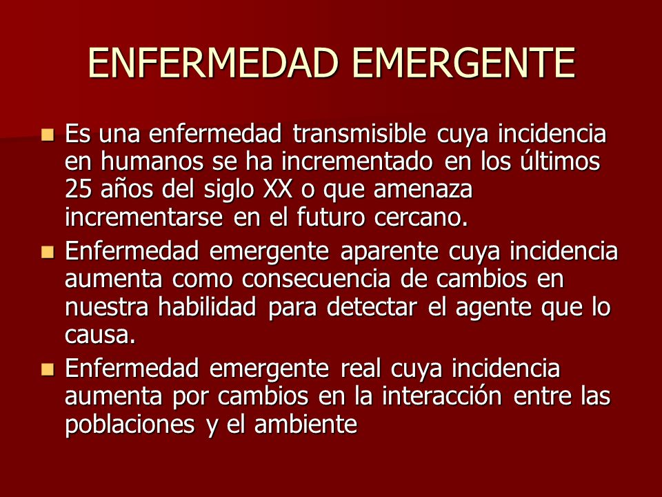 ENFERMEDAD EMERGENTE