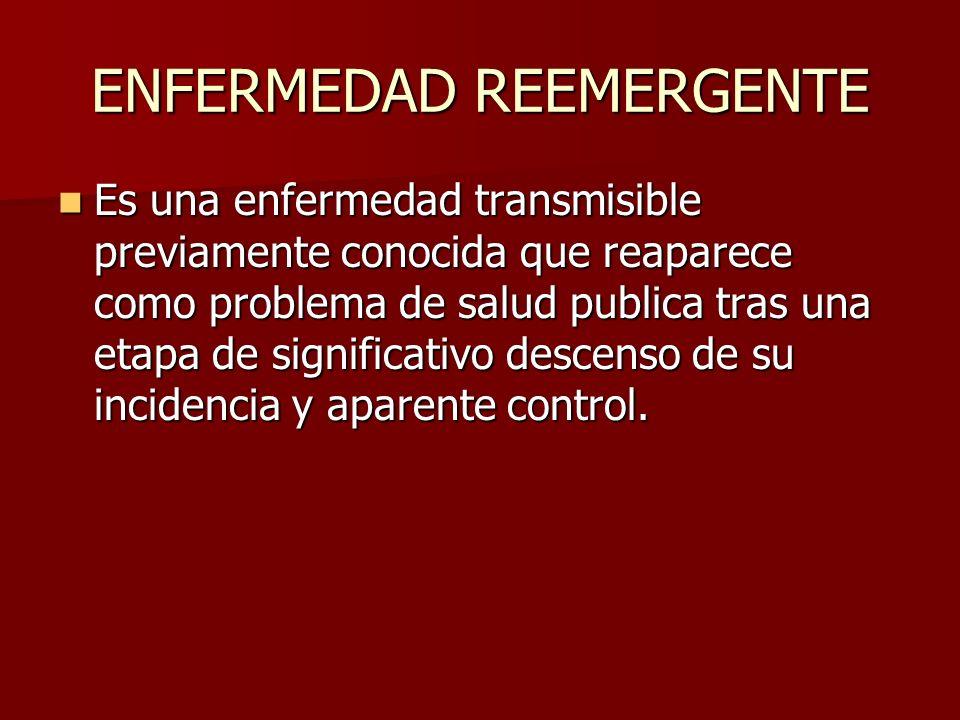 ENFERMEDAD REEMERGENTE