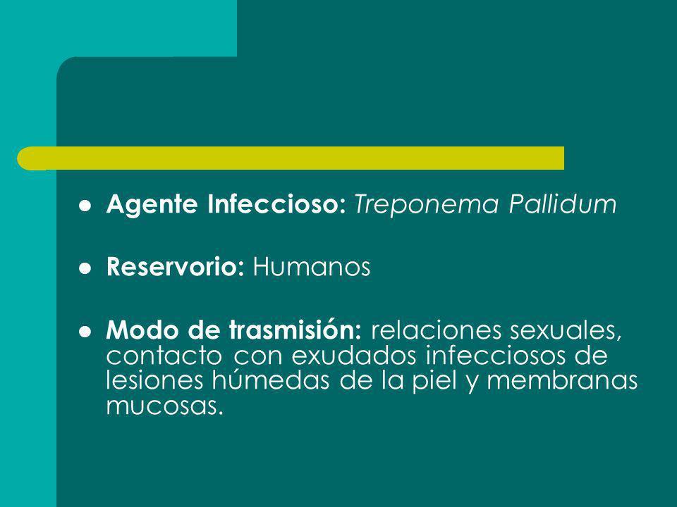 Agente Infeccioso: Treponema Pallidum