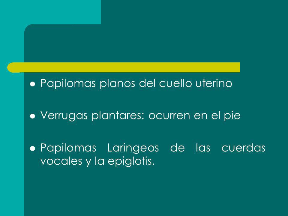 Papilomas planos del cuello uterino