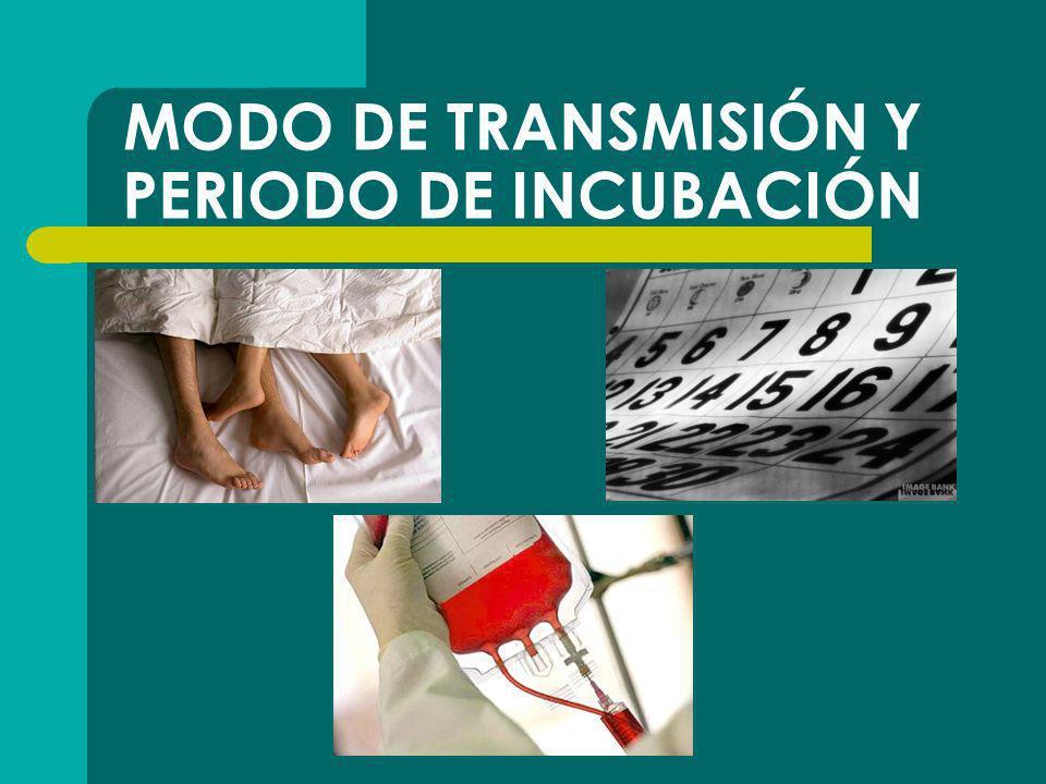 MODO DE TRANSMISIÓN Y PERIODO DE INCUBACIÓN