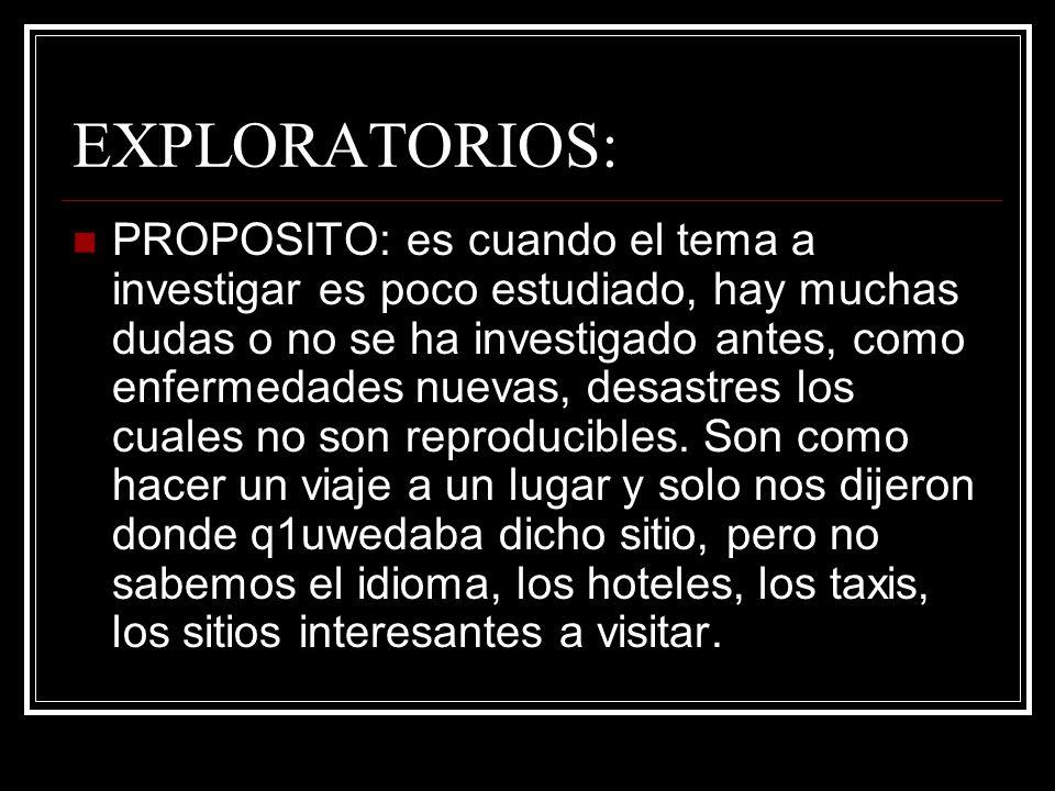 EXPLORATORIOS: